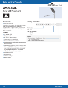 AV09-SAL Solar LED Area Light Solar Lighting Products Applications