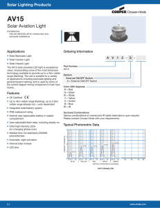 AV15 Solar Aviation Light Solar Lighting Products Applications