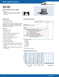 AV125 LED Obstruction Light Solar Lighting Products