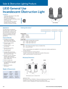L810 General Use Incandescent Obstruction Light Solar & Obstruction Lighting Products