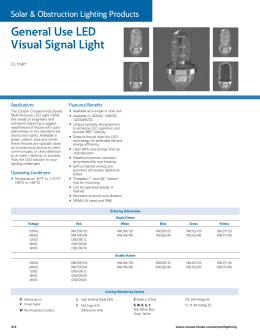 General Use LED Visual Signal Light Solar & Obstruction Lighting Products Applications
