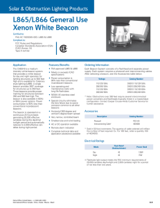 L865/L866 General Use Xenon White Beacon Solar & Obstruction Lighting Products Certified to: