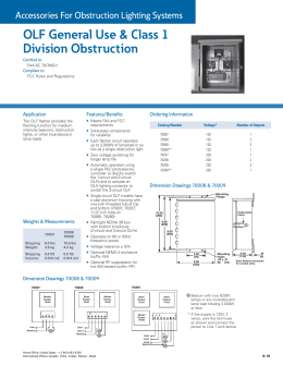OLF General Use & Class 1 Division Obstruction Application