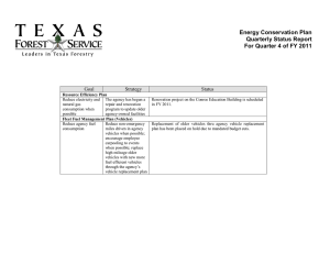 Energy Conservation Plan Quarterly Status Report For Quarter 4 of FY 2011