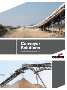 Conveyor Solutions For Mining Applications