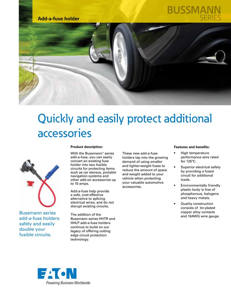 Bussmann BP//HHTR-RP ATR Add-A-Line Circuit For Accessory
