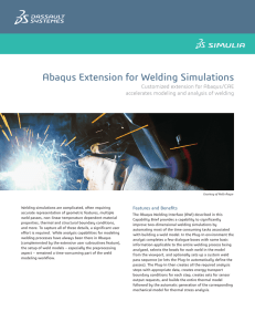 Abaqus Extension for Welding Simulations  Customized extension for Abaqus/CAE