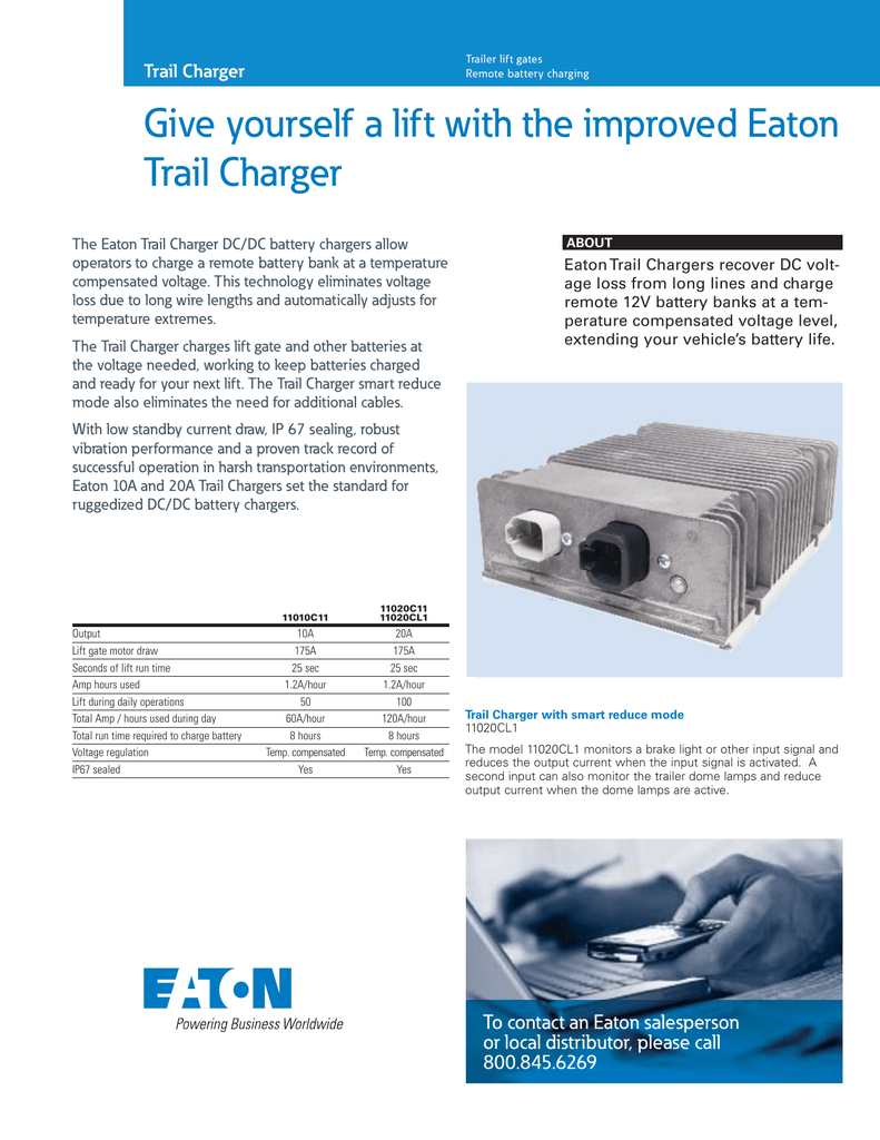 Give Yourself A Lift With The Improved Eaton Trail Charger 12v Voltage Regulated 013733547 1 F4936302a93480dc8de4140043e518a6