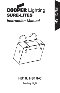 Instruction Manual ENGLISH HS1R, HS1R-C Auxiliary Light