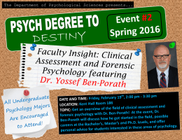 DESTINY  Faculty Insight: Clinical Assessment and Forensic