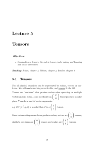 Lecture 5 Tensors