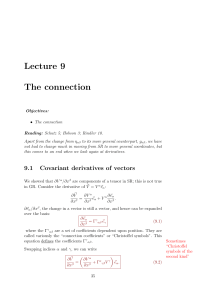 Lecture 9 The connection