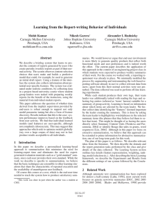 Learning from the Report-writing Behavior of Individuals