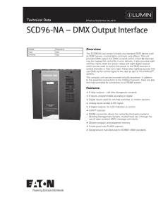 SCD96-NA – DMX Output Interface Technical Data Overview