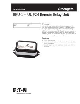 ck4a controlkeeper 4a greengate technical data overview rru 1 ul 924 remote relay unit greengate technical data overview