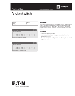 VisionSwitch Technical Data Overview
