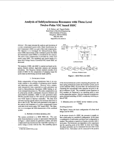 Analysis of SubSynchronous Resonance with Three Level Twelve-Pulse based