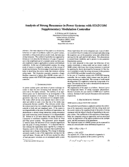 Analysis of Strong Resonance in Power Systems with STATCOM Supplementary Modulation Controller