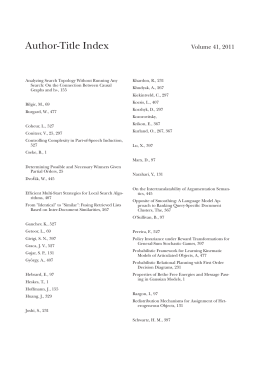 Author-Title Index Volume 41, 2011