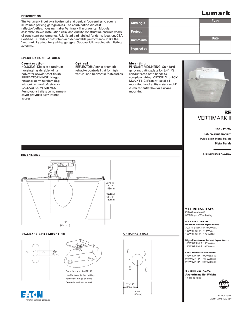 Catalog Type Electrical Wiring Diagrams 480v Metal Halide 150w Hps