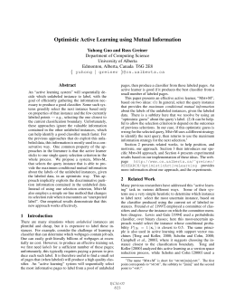 Optimistic Active Learning using Mutual Information
