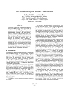 Case-based Learning from Proactive Communication