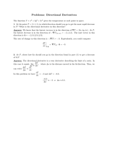 Problems:  Directional  Derivatives