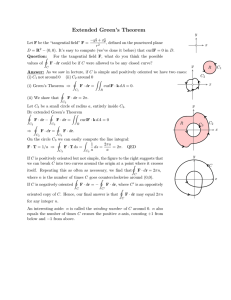 Extended  Green's  Theorem
