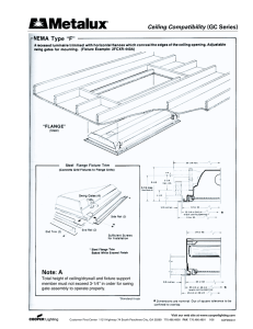 Ceiling Compatibility (GC Series) Note: A