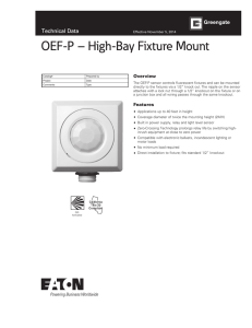 OEF-P – High-Bay Fixture Mount Technical Data Overview