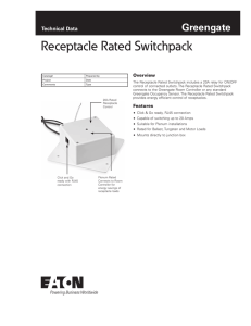Receptacle Rated Switchpack Greengate Technical Data Overview