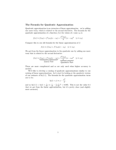 The  Formula  for  Quadratic  Approximation