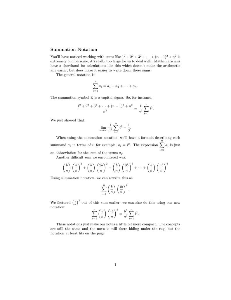 Summation notation biocorpaavc Gallery