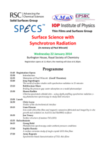 Surface Science with Synchrotron Radiation Programme Solid Surfaces Group