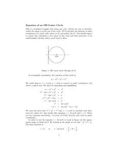 Equation  of  an  Off-Center  Circle
