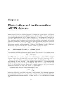 Discrete-time AWGN and channels
