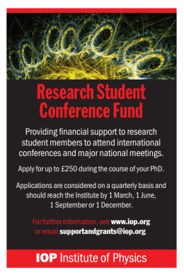 Research Student Conference Fund