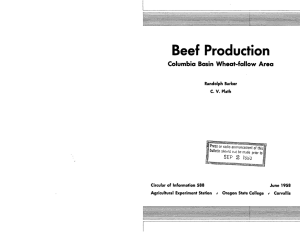 Beef Production Columbia Basin Wheat-fallow Area 2 lyjia SEP