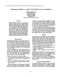 Evaluating CELIA:  A  study  of  the ... of  case  acquisition Michael  Redmond