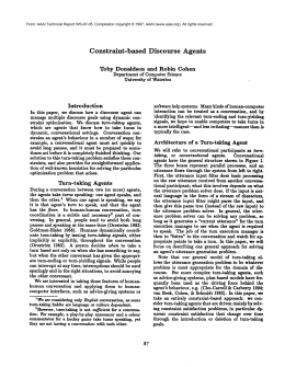Constraint-based Discourse Agents