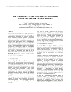 MULTI-VERSION SYSTEMS OF NEURAL NETWORKS FOR PREDICTING THE RISK OF OSTEOPOROSIS