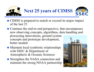 Next 25 years of CIMSS