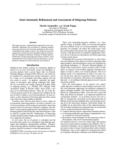 Semi-Automatic Refinement and Assessment of Subgroup Patterns