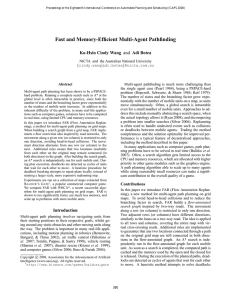 Fast and Memory-Efficient Multi-Agent Pathfinding Ko-Hsin Cindy Wang