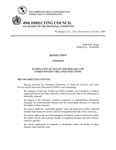 49th DIRECTING COUNCIL RESOLUTION CD49.R19