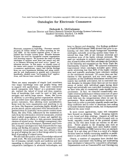 Ontologies for  Electronic Commerce