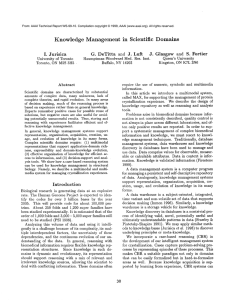 Knowledge  Management  in  Scientific Domains