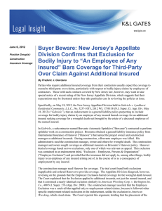 Buyer Beware: New Jersey's Appellate Division Confirms that Exclusion for