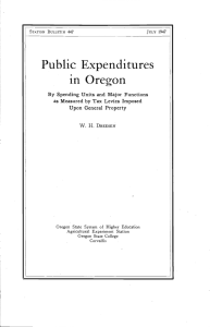 Public Expenditures in Oregon By Spending Units and Major Functions Upon General Property