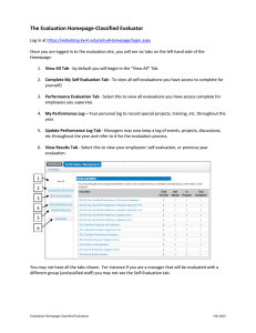 The Evaluation Homepage-Classified Evaluator